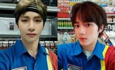 Ngakak Abis! Ini 10 Foto Editan Idol Kpop Kenakan Seragam Minimarket