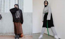 Outfit Hoodie untuk Hijaber, 10 Ide Padu Padan Ala Selebgram