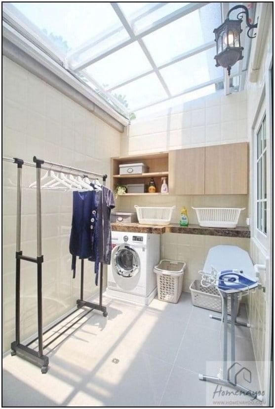 10 Desain Ruang Cuci Jemur untuk Rumah Mungil, Hemat Tempat