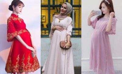 10 OOTD Kondangan untuk Wanita Hamil, Trendi dan Gak Ribet
