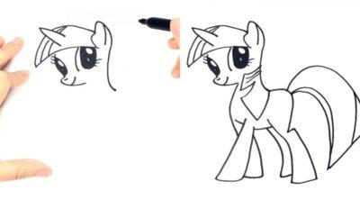 10 Langkah Cara Menggambar My Little Ponny