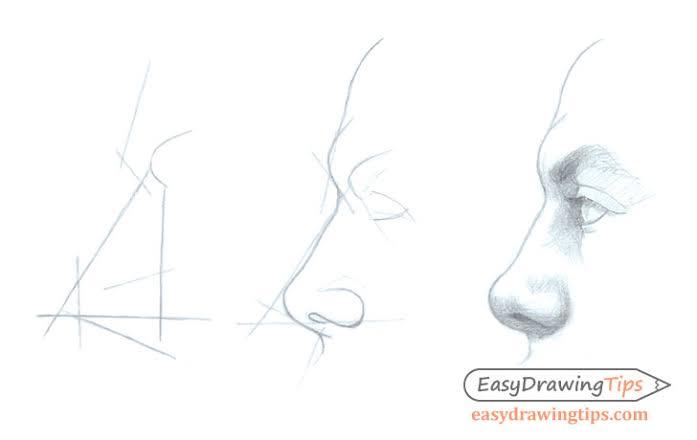 10 Cara Menggambar Hidung, Anime hingga Realistik