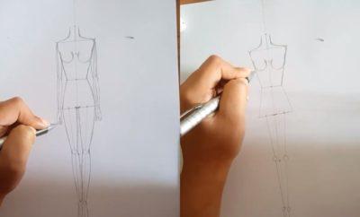 10 Cara Menggambar Manusia, Teknik Fashion Desainer