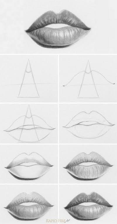 10 Cara Membuat Gambar Mulut dengan Berbagai Metode