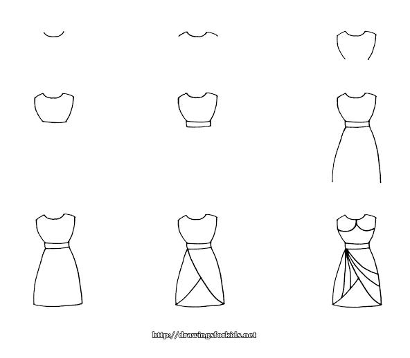 10 Cara Menggambar Dress Panjang untuk Desainer Pemula