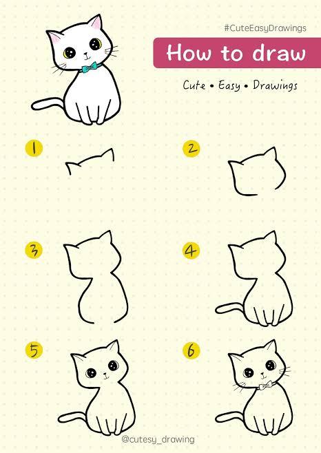 10 Cara Menggambar Anak Kucing, Posisi Duduk hingga Tiduran