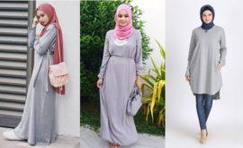 10 Warna Jilbab Cocok dengan Baju Abu-Abu